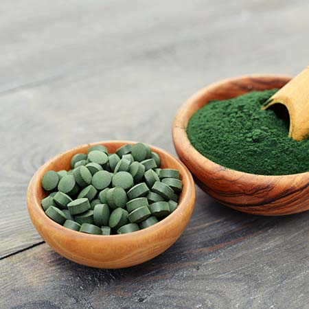 Groene voedingsaanvulling